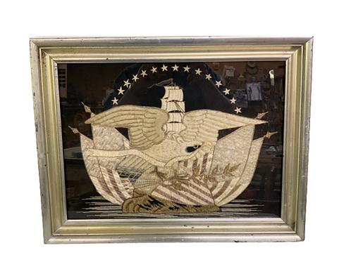 Silk embroidered Eagle