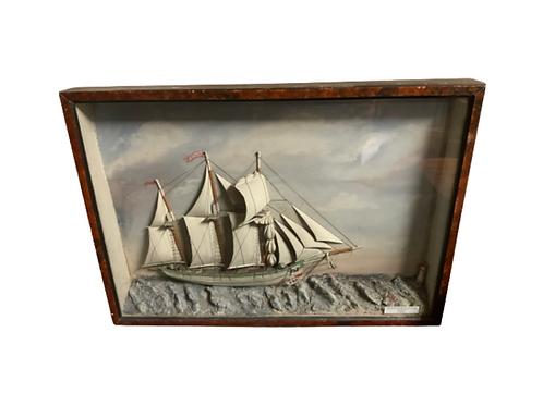 Sailing ships diorama