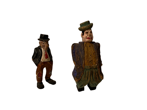 Two carved hobos