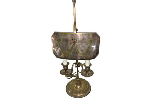 Sheffield silver over copper candleholder
