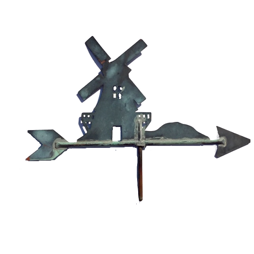 COPPER WEATHER VANE OF A WINDMILL
