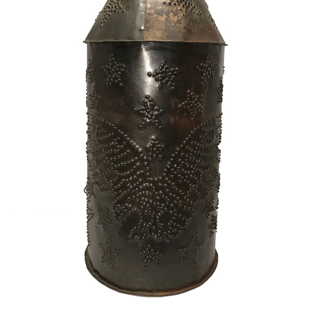 Eagle Punched Tin Lantern - Axtell Antiq