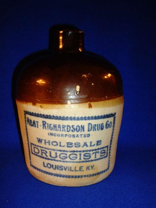 Neat-Richardson Druggists, Louisville, Kentucky Stoneware 1/2 Gallon Jug
