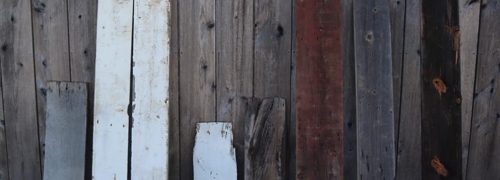 Various styles of reclaimed barn wood siding