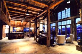 Lodge project in Colorado barn wood beams