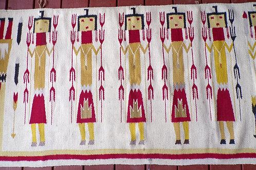 Yei Figural Navajo Weaving