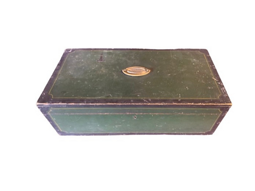 Painted document box