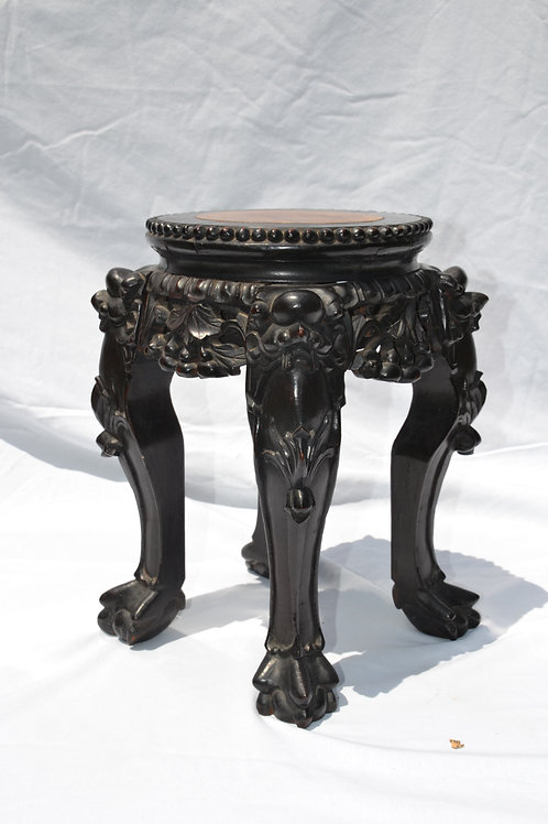 ​​​​​​​Small Chinese Carved Marble Top Stand