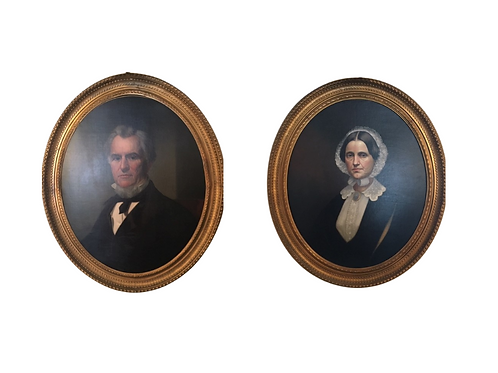 Pair of Mid 19th Century Portraits