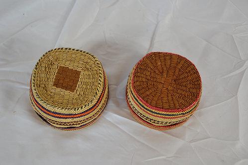 Two Makah Treasure Baskets