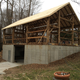 Completion of timber framing and new roof