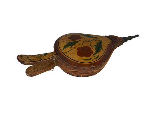 Paint decorated fire place bellows