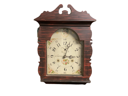 Riley Whiting Winchester Conn.painted tall clock