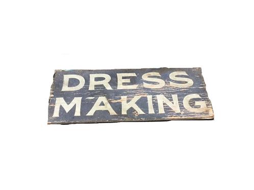 Blue Smaltz Dress Making Trade Sign