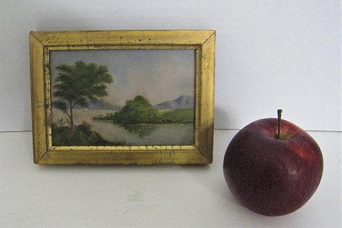 Miniature oil on board