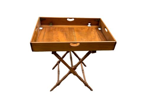 Mahogany fold down butlers tray