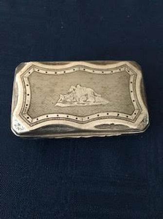 Snuff box-Sterling silver