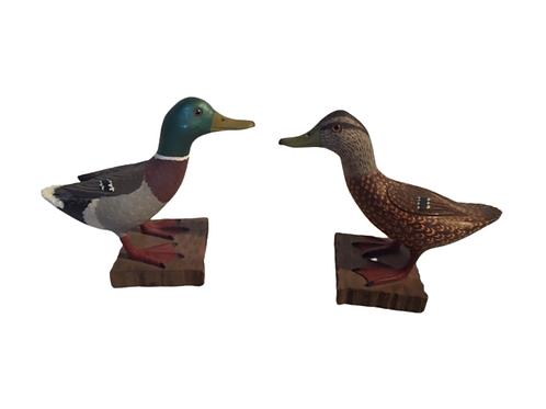 Miniature Pair of Mallard Ducks