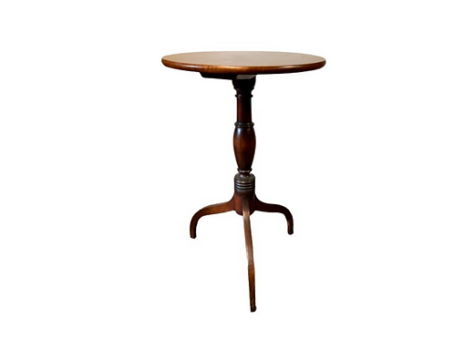 FEDERAL MAHOGANY AND CHERRY CANDLESTAND