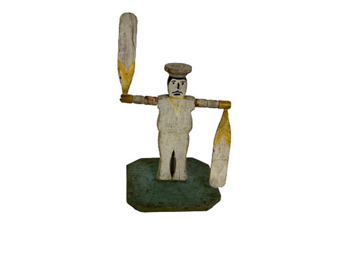 Painted carved sailor whirligig