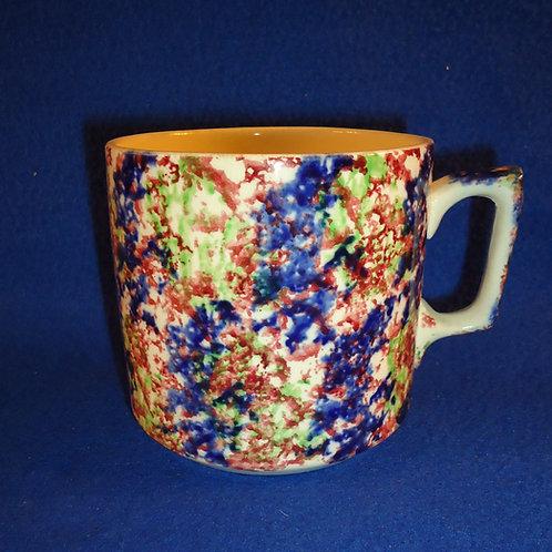Multi-Colored Staffordshire Spongeware Mug