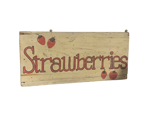 Wooden Strawberries sign