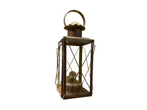 Glass and tin lantern 19th. century