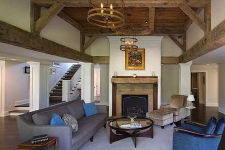 Interoir barn wood beam project