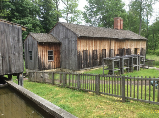 Ashery and sawmill  at the Morman Church job in Kirtland, Ohio. The buildings were rebuilt to look like the originals. Labor and materials supplied by Eagle Creek Designs.