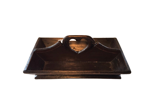 Cutlery Tray with Heart Cutout Handle