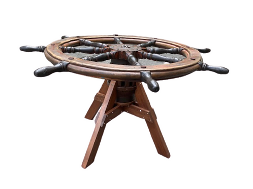 Schooner or sailing vassal ships wheel