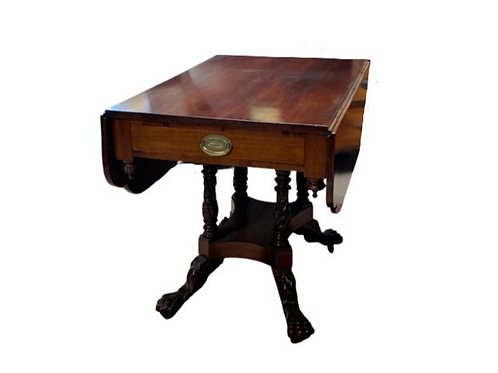 CLASSICAL MAHOGANY DROP LEAF TABLE