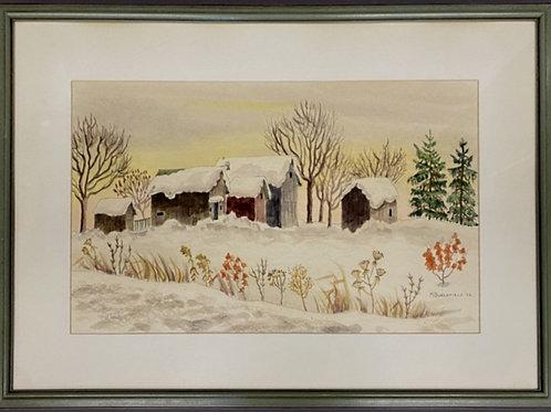 Martha Burchfield Signed Watercolor