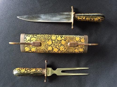 Oriental Cased Cutlery Set