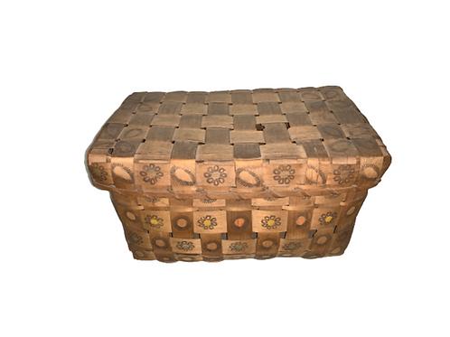 Potato stamp covered Indian basket