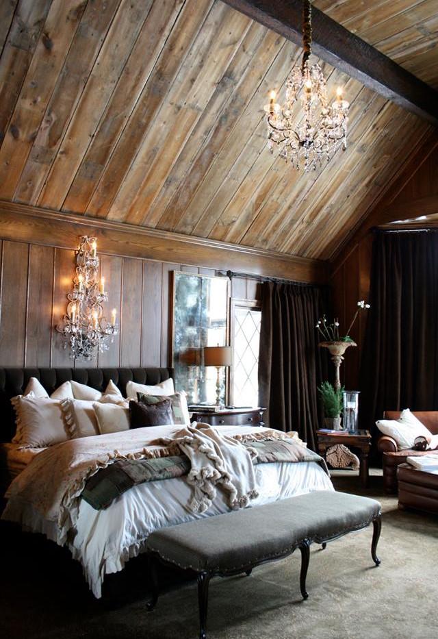 Bedroom renovation using barn wood siding