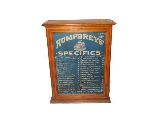 HUMPHERYS SPECIFICS STORE CABINET