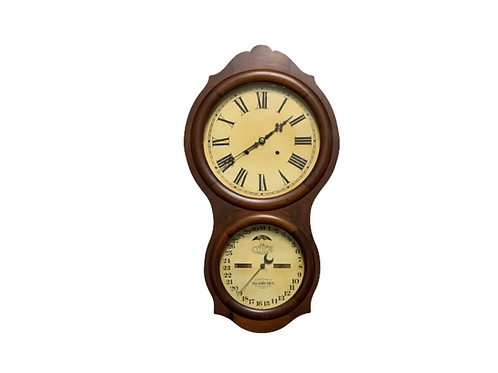 No. 4 Office hanging Rosewood Ithaca calendar clock