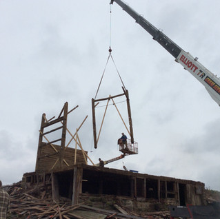 Removing the beams