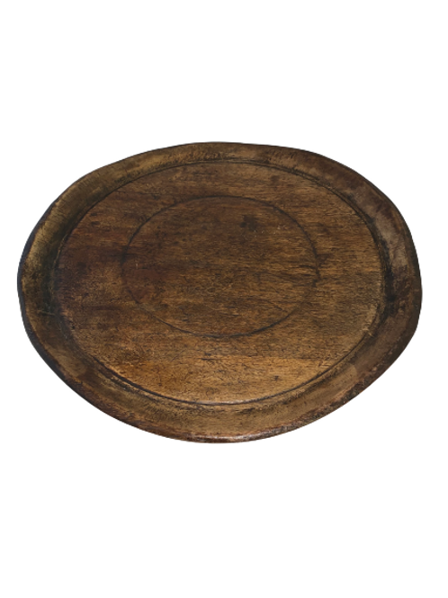 Turned wood platter
