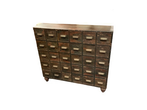 DECORATED 30 DRAWER APOTHECARY CHEST