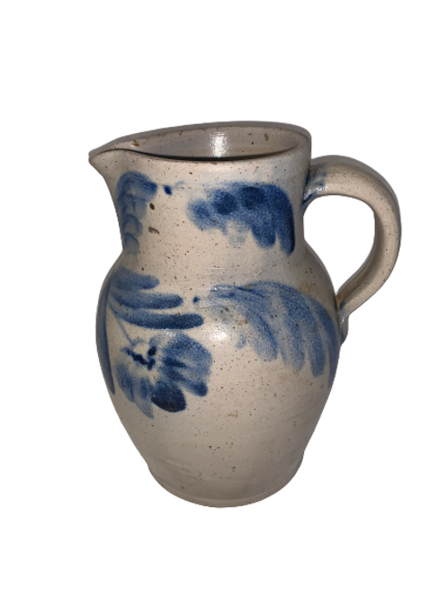 PA. Decorated stoneware pitcher