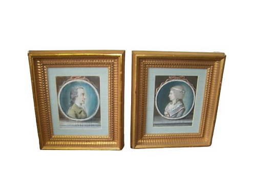 PAIR OF 18TH CENTURY PASTELS PORTRAITS