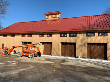 Timber frame barn project in Canfield Ohio