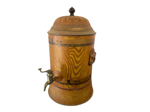 Painted water cooler 19th. Century