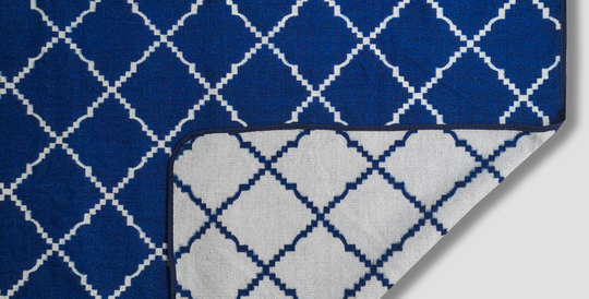Royal Blanket - Electric Blue and White