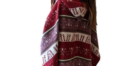 Tribal Poncho with hoodie