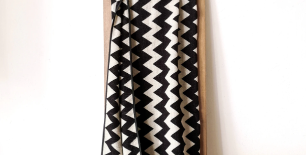 Zigzag Blanket - Black and White