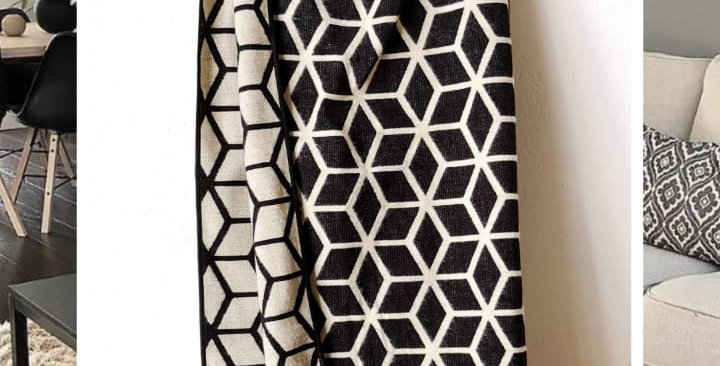 CUBIC BLANKET - BLACK AND WHITE