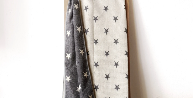 Star blanket - Gray and White